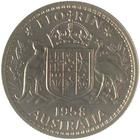 Australia / Florin 1958 / Proof - reverse photo