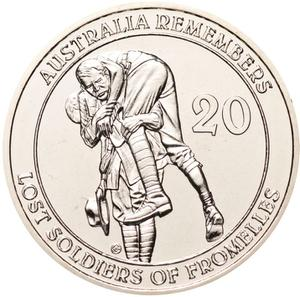 Australia / Twenty Cents 2010 Lost Soldiers of Fromelles (NCLT) - reverse photo