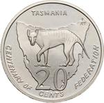Australia / Twenty Cents 2001 Centenary of Federation - Tasmania / Proof FDC - reverse photo