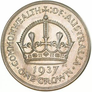 Australia / Crown 1937 - reverse photo