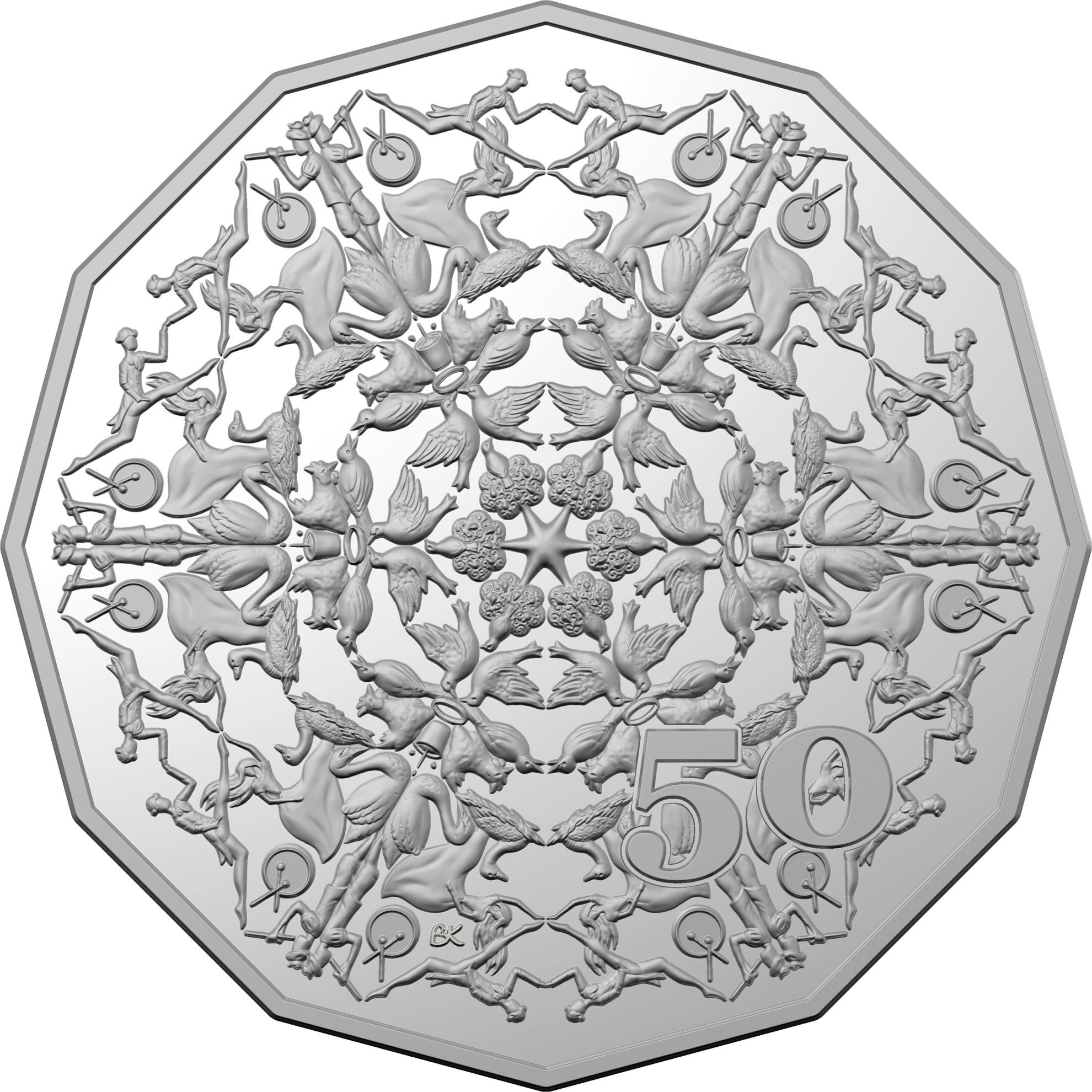 Fifty Cents 2019 Christmas Decoration (NCLT): Photo Christmas Decoration 2019 50c Uncirculated Coin
