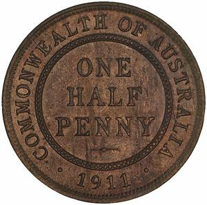 Australia / Halfpenny 1911 - reverse photo