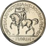 Australia / Florin 1934-1935 Centenary of Victoria / Proof-like - reverse photo