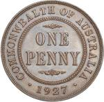 Penny 1927: Photo Coin - 1 Penny, Australia, 1927