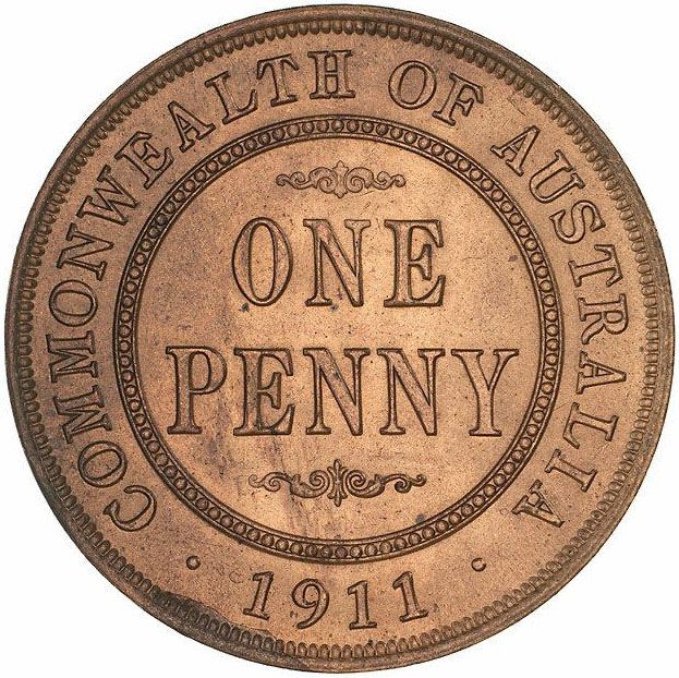 Penny: Photo Specimen Coin - 1 Penny, Australia, 1911