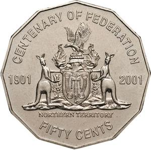 Australia / Fifty Cents 2001 Centenary of Federation - Northern Territory - reverse photo
