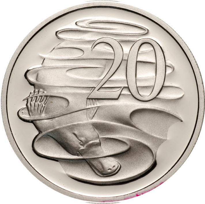Twenty Cents 1994: Photo 1994 20c CuNi Proof for the Proof Year Set
