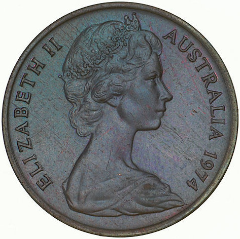 One Cent 1974: Photo Coin - 1 Cent, Australia, 1974