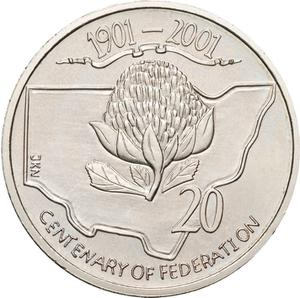 Australia / Twenty Cents 2001 Centenary of Federation - New South Wales - reverse photo