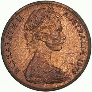 Australia / One Cent 1973 - obverse photo