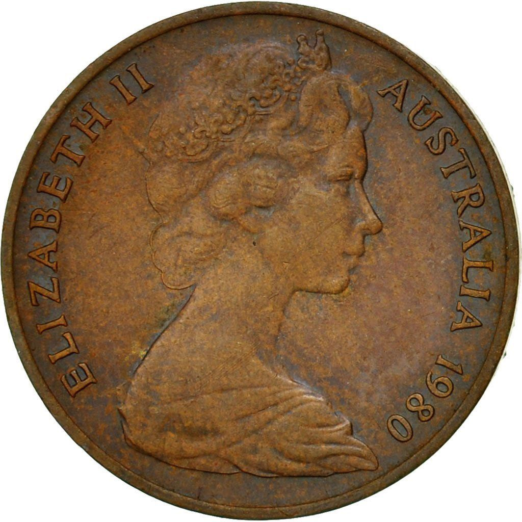 One Cent 1980: Photo Coin, Australia, Elizabeth II, Cent, 1980