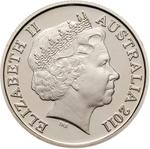 Australia / Five Cents 2011 / Proof FDC - obverse photo