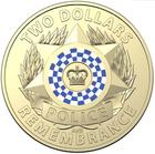 Australia / Two Dollars 2019 Police Remembrance (Blue and White) - reverse photo