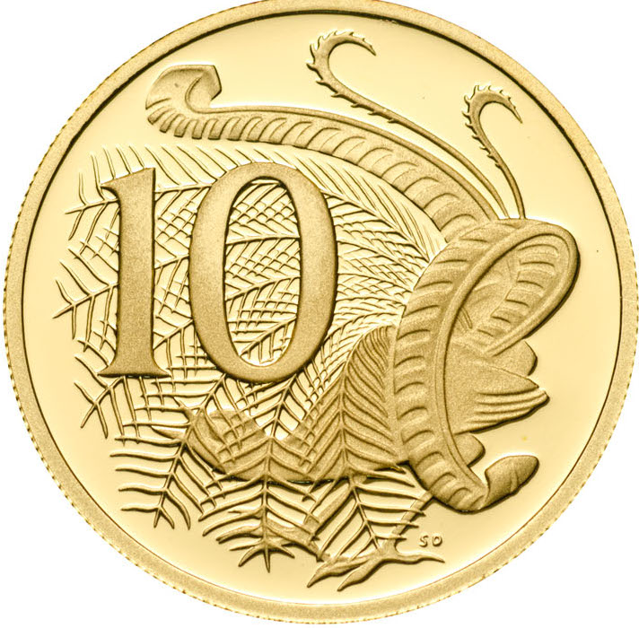 Ten Cents 2005: Photo 2005 10c Gold Proof for the Proof Year Set