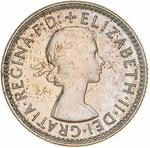 Sixpence 1955: Photo Proof Coin - Sixpence, Australia, 1955