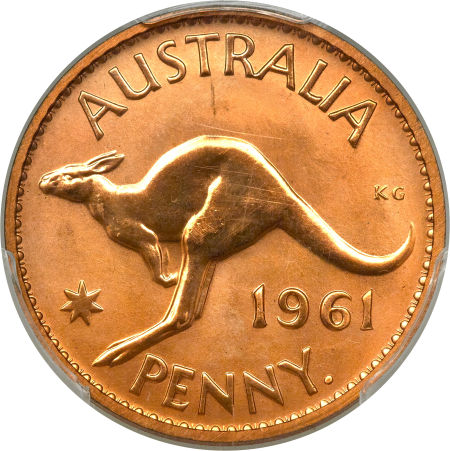 Penny 1961, Coin from Australia - Online Coin Club