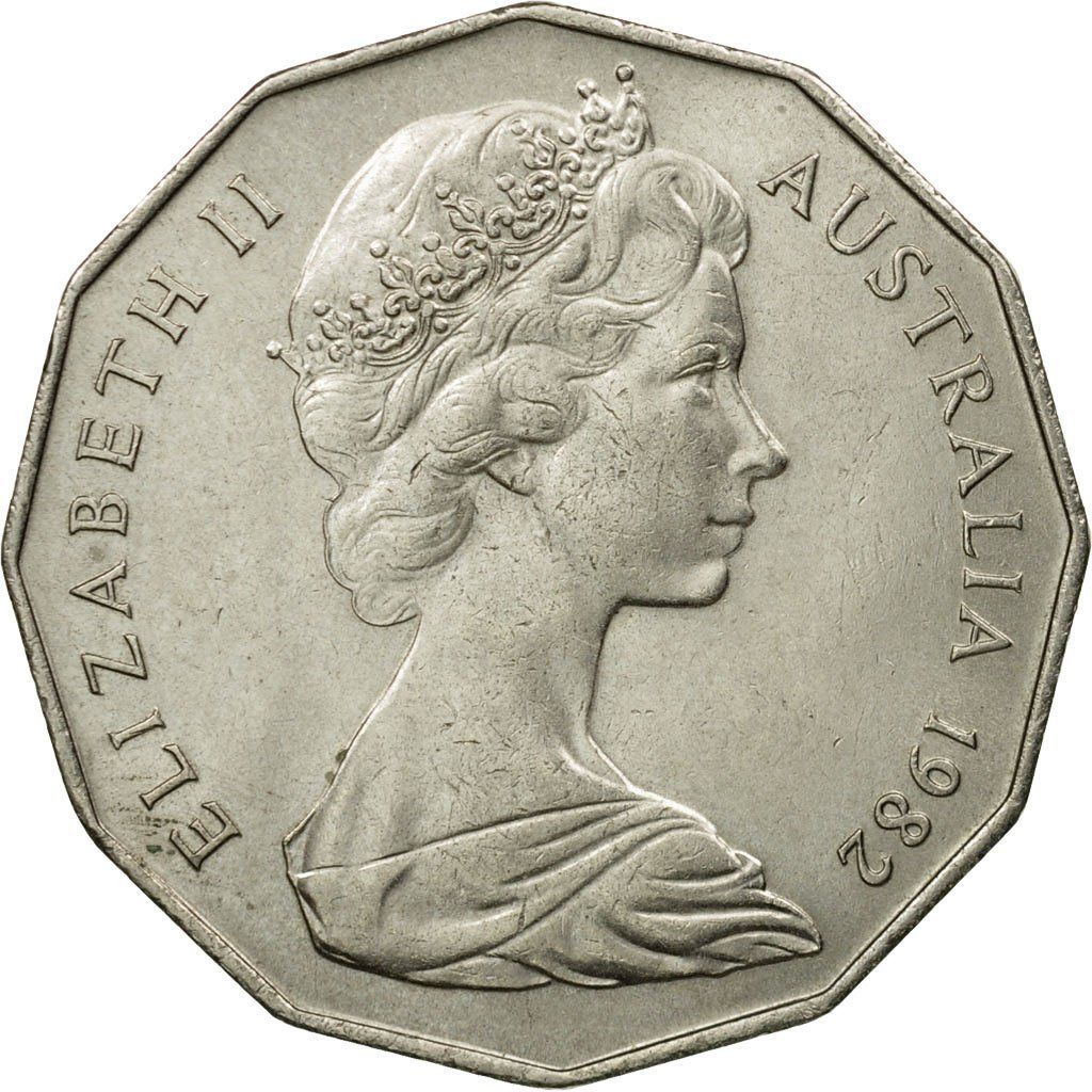 Fifty Cents 1982 XII Commonwealth Games: Photo Coin, Australia, Elizabeth II, 50 Cents, 1982