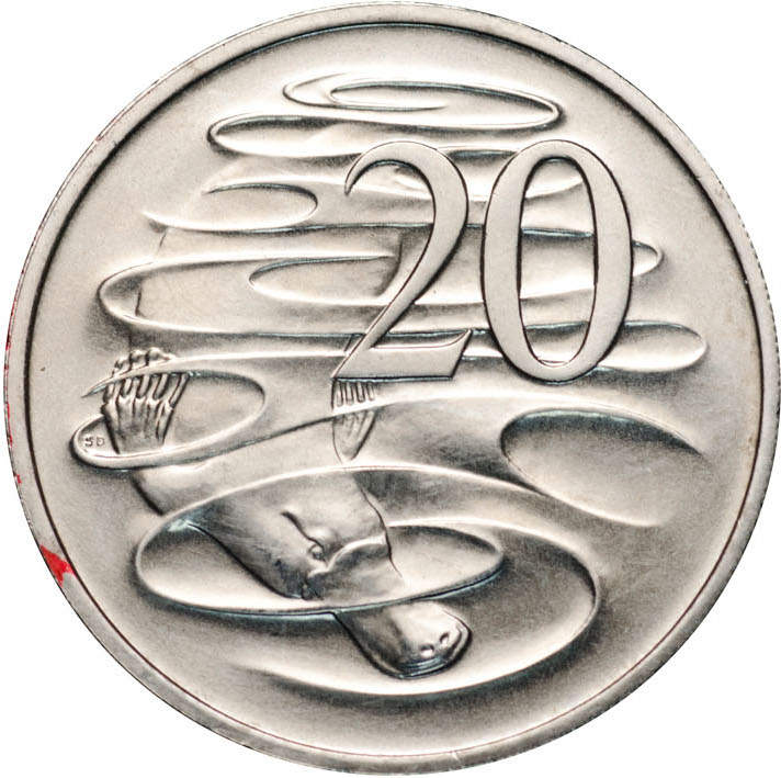 Twenty Cents 1999: Photo 1999 20c CuNi Unc for the Uncirculated Year Set