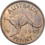 Penny 1943: Photo Coin - 1 Penny, Australia, 1943