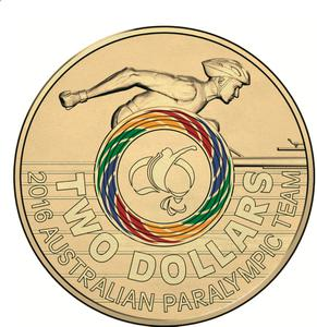 Australia / Two Dollars 2016 Paralympic - reverse photo