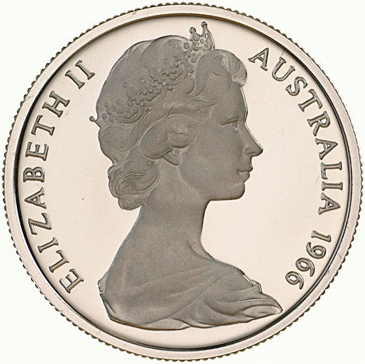 Five Cents 1966: Photo Proof Coin - 5 Cents, Australia, 1966