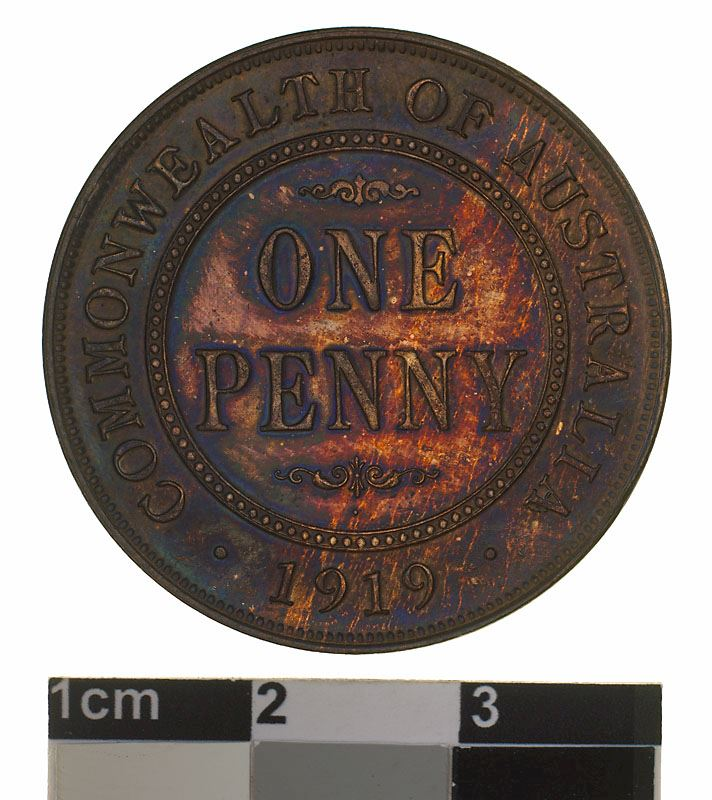 Penny 1919: Photo Specimen Coin - 1 Penny, Australia, 1919