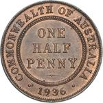 Australia / Halfpenny 1936 - reverse photo