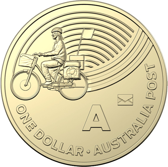 One Dollar 2019 A - Australia Post: Photo One Dollar 2019 A - Australia Post, with privy mark