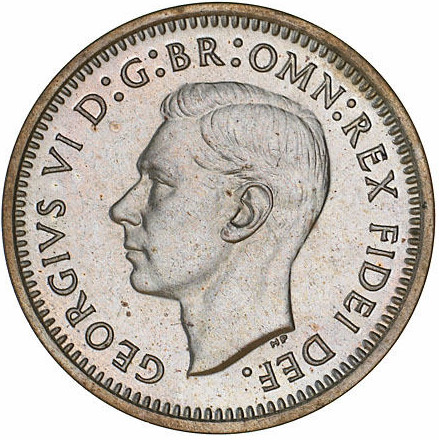Threepence: Photo Proof Coin - Threepence, Australia, 1951