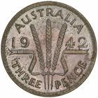 Threepence 1942: Photo Coin - Threepence, Australia, 1942