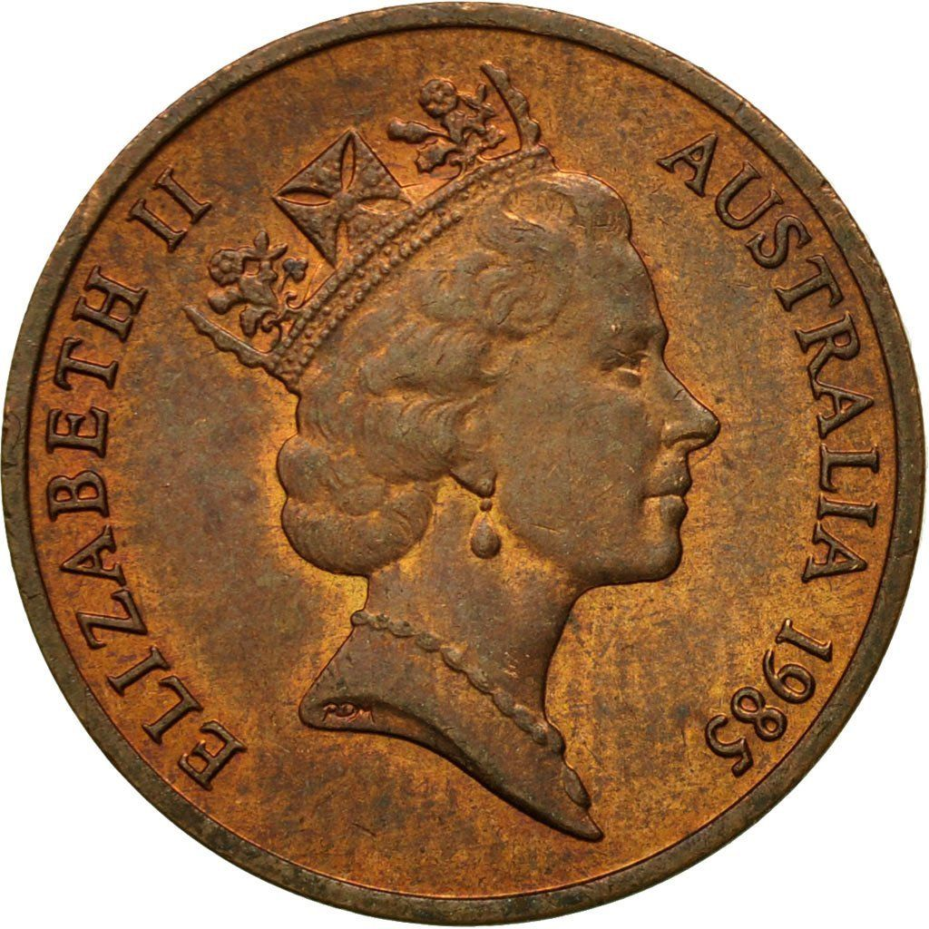Two Cents: Photo Australia, Elizabeth II, 2 Cents, 1985