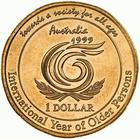 Australia / One Dollar 1999 International Year of Older Persons - reverse photo