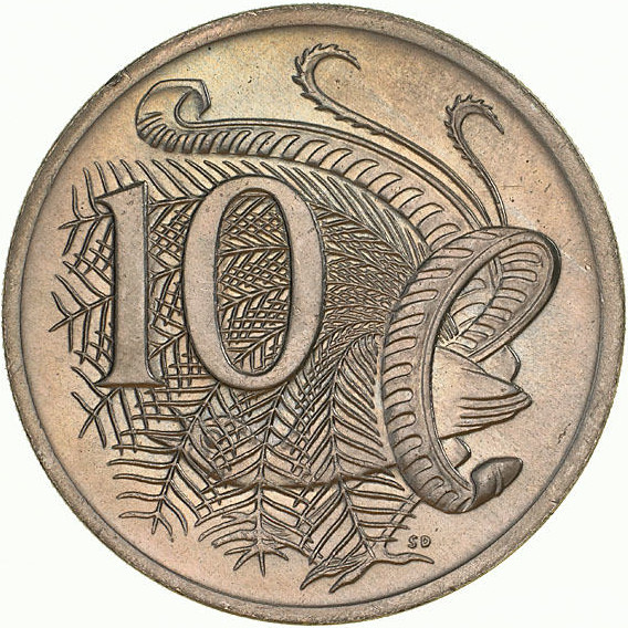Ten Cents 1970: Photo Coin - 10 Cents, Australia, 1970