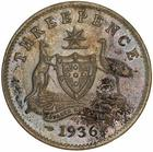 Threepence 1936: Photo Proof Coin - Threepence, Australia, 1936