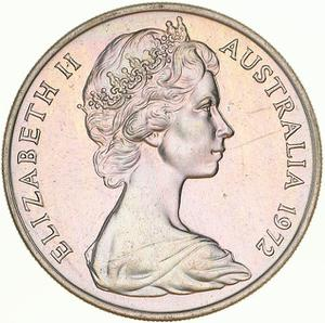 Australia / Twenty Cents 1972 - obverse photo