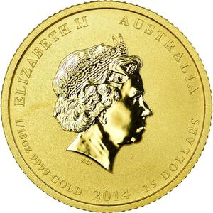 Australia / Gold Tenth Ounce 2014 - reverse photo