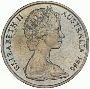 Australia / Twenty Cents 1966 - obverse photo