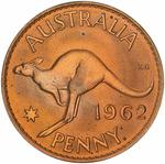 Penny 1962: Photo Proof Coin - 1 Penny, Australia, 1962