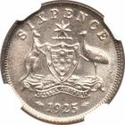 Sixpence 1925: Photo Australia 1925 6 pence