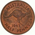 Australia / Halfpenny 1943 - reverse photo