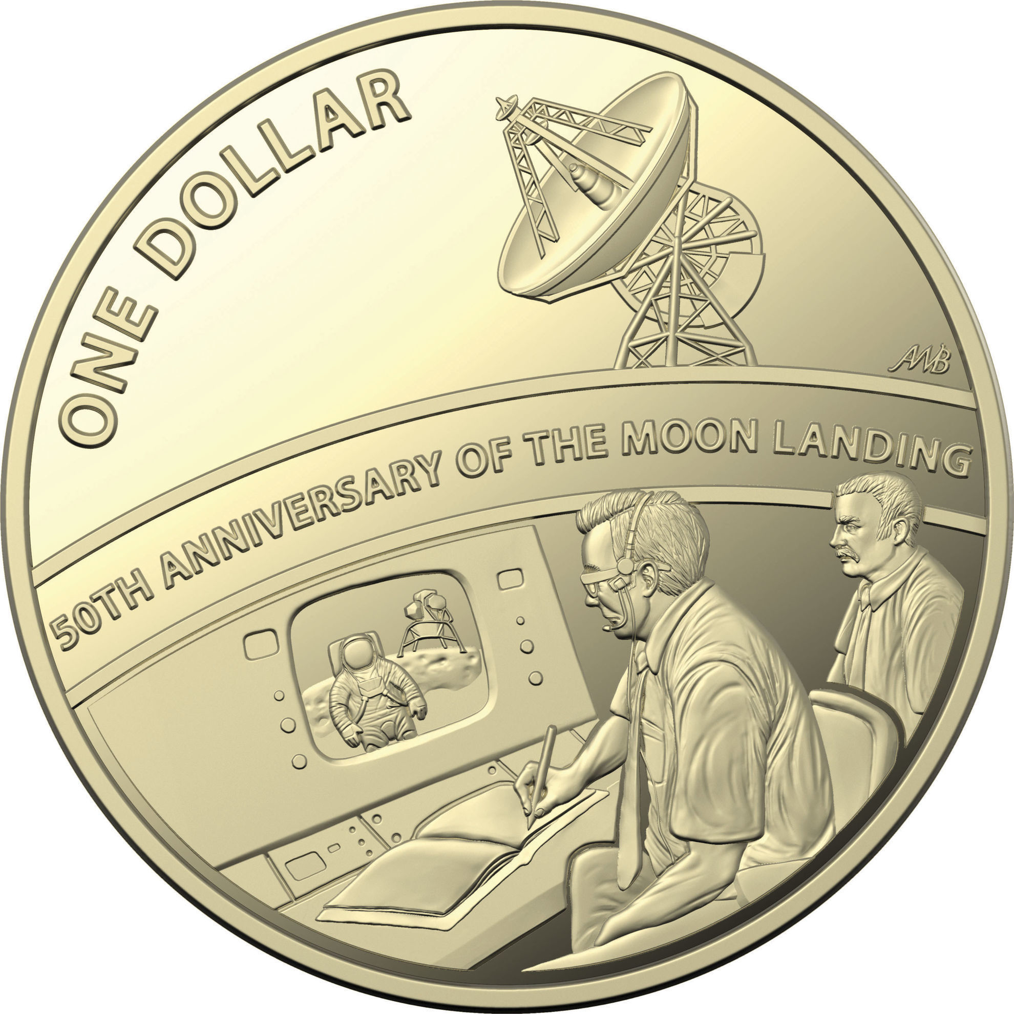 One Dollar 2019 Moon Landing: Photo 50th Anniversary of the Moon Landing - $1 Proof