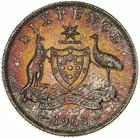 Sixpence 1963: Photo Coin - Sixpence, Australia, 1963