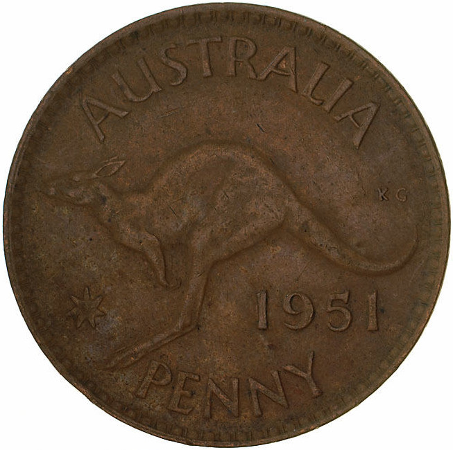 Penny 1951: Photo Coin - 1 Penny, Australia, 1951