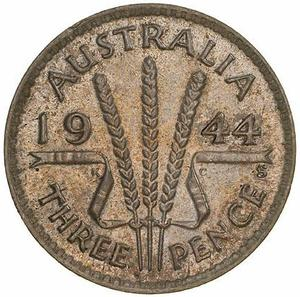 Australia / Threepence 1944 - reverse photo