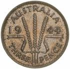 Threepence 1944: Photo Coin - Threepence, Australia, 1944