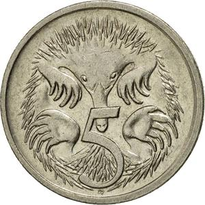 Australia / Five Cents 1988 - reverse photo