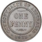 Australia / Penny 1931 / London Obverse - reverse photo