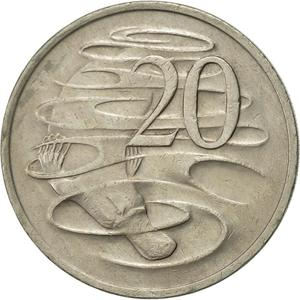Australia / Twenty Cents 1975 - reverse photo