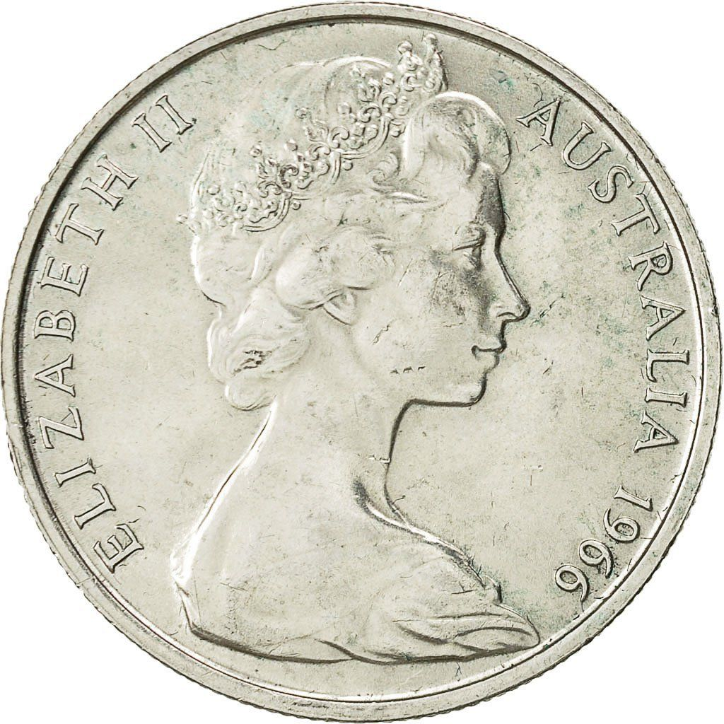 Fifty Cents 1966 (round, silver): Photo Coin, Australia, Elizabeth II, 50 Cents, 1966