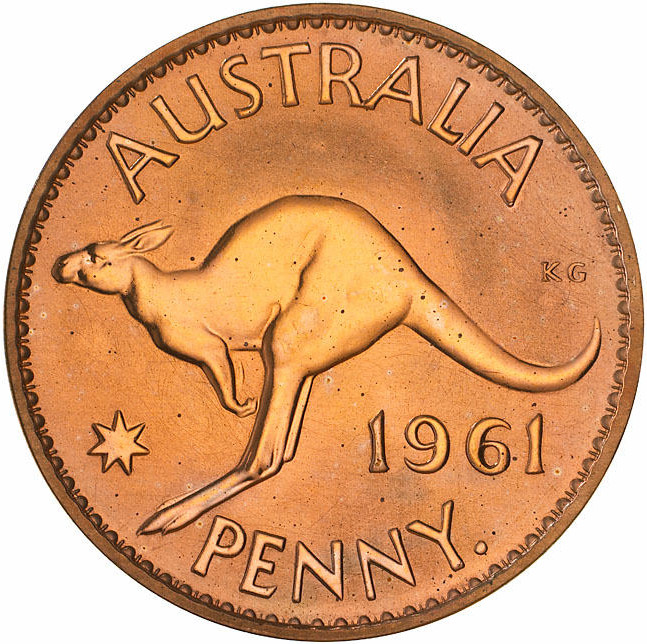 Penny 1961: Photo Proof Coin - 1 Penny, Australia, 1961